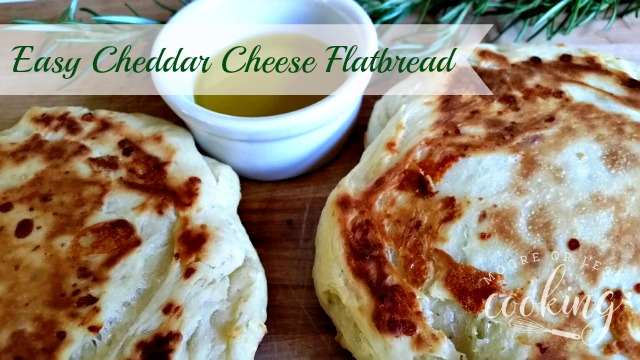 Easy Cheddar Cheese Flatbread