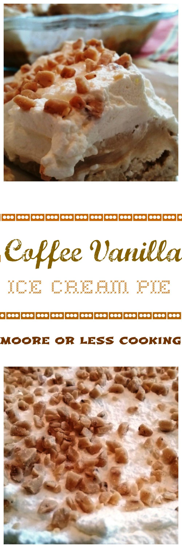 COFFEE VANILLA ICE CREAM PIE #SUNDAYSUPPER