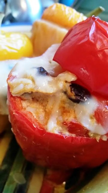 Mexican Stuffed Salmon Peppers