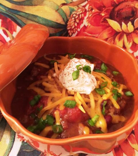 Pumpkin Harvest Chili A delicious chili using leftovers! Get recipe. Tampa Cake Girl