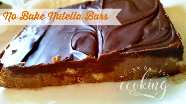 No Bake Nutella Bars #Choctoberfest