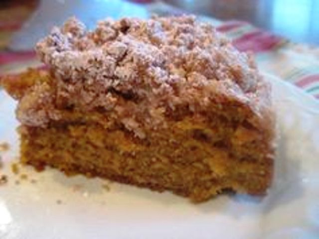 Pumpkin Crumb Cake This pumpkin crumb cake has a thick layer of crumble topping over a softly spiced, moist pumpkin cake. Get recipe here. Moore or Less Cooking