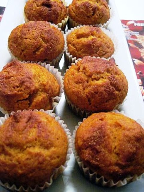 Easy Cinnamon Pumpkin Cake Muffins If you love pumpkin and cinnamon, you will love these super moist and fluffy muffins. Get recipe here. Moore or Less Cooking