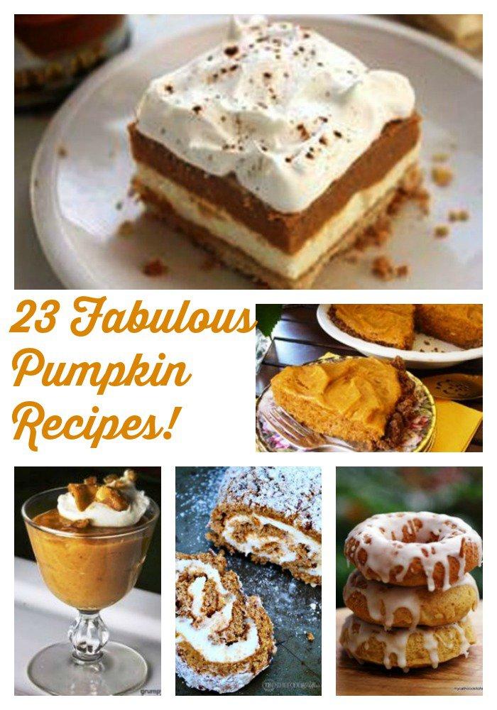 23 Fabulous Pumpkin Recipes