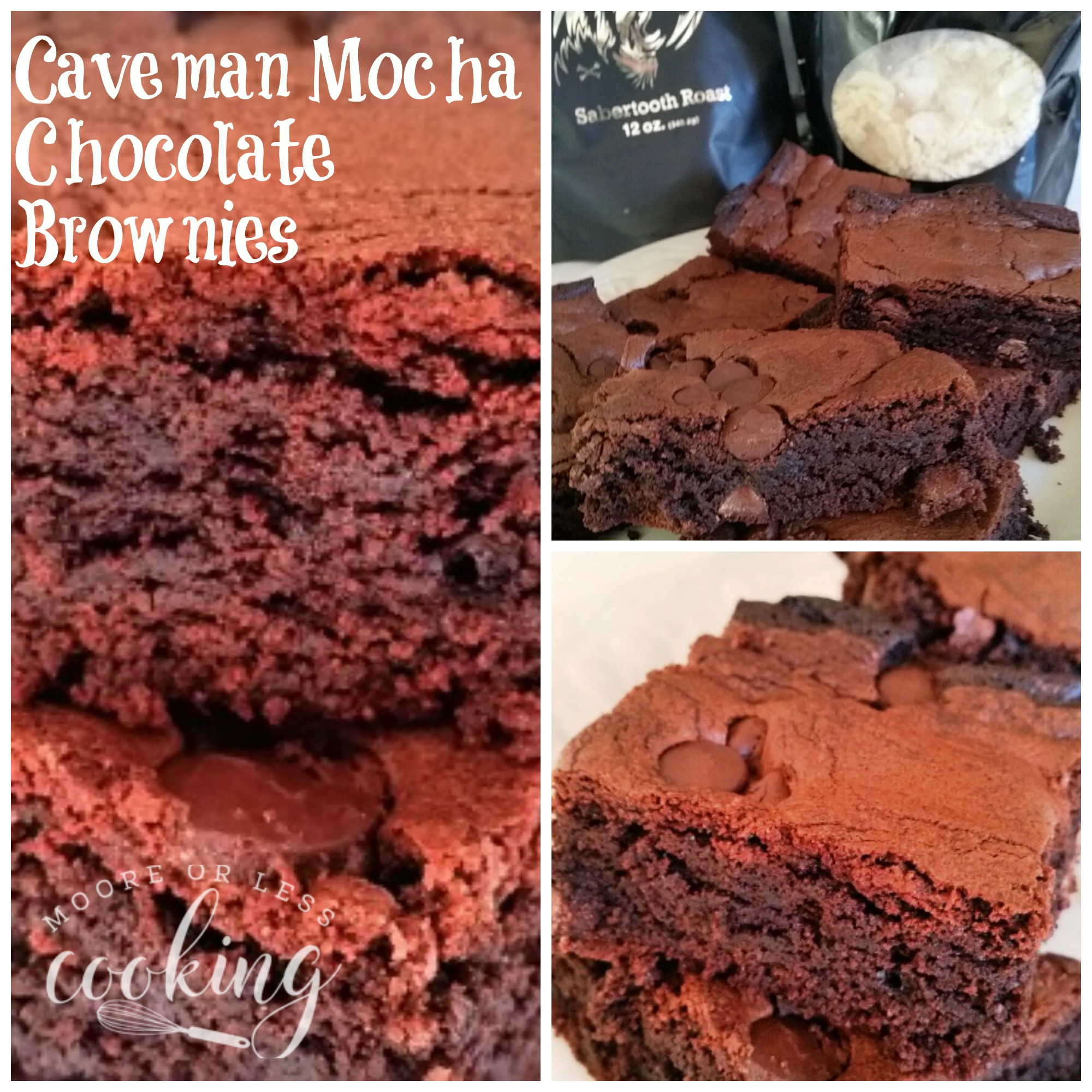 Caveman Mocha Chocolate Brownies