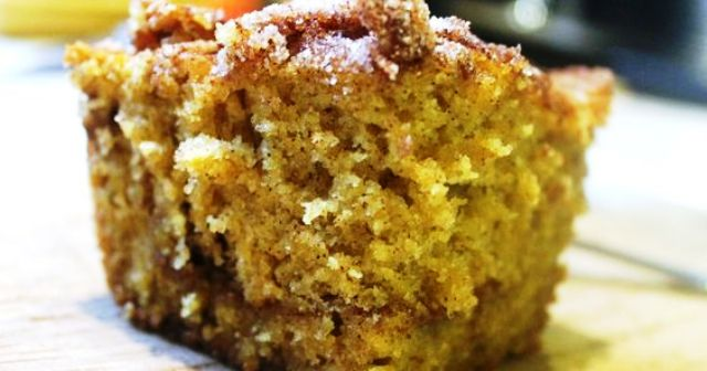 Pumpkin Streusel Coffee Cake Delicious and very easy to make, this cake is amazing. Even better if you use fresh pumpkin puree. Get recipe here. cookingwithmaryandfriends.com