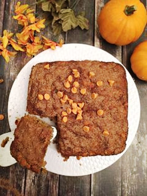 Spiced Pumpkin Dump Cake You won't believe the secret ingredient in this dump cake! Get recipe here. Skinny Sweets Daily