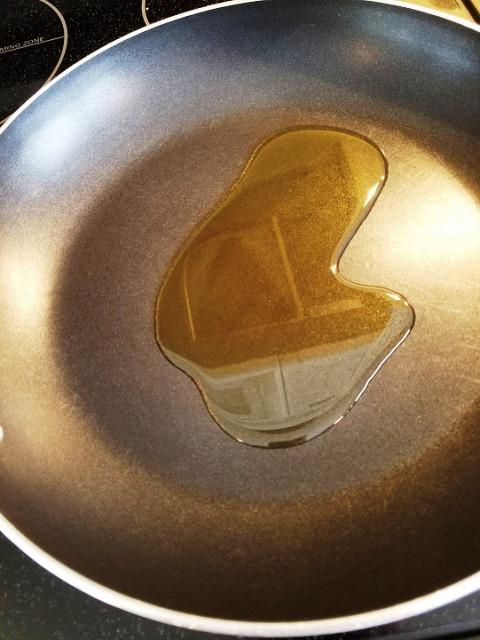 olive oil in saucepan Slow Cooker Mississippi Pot Roast
