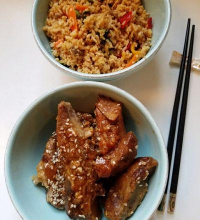 Asian Pineapple Ribs and Ling Ling Bibimbap Beef Fried Rice