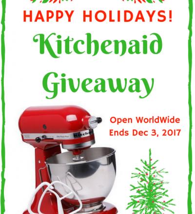 KitchenAid Mixer Holiday Giveaway