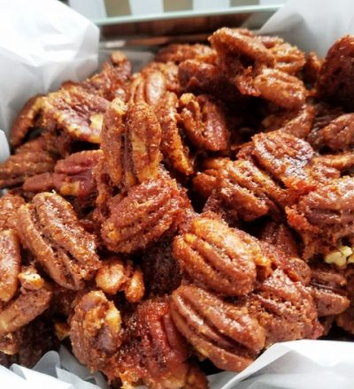 Sweet, Spicy, and Salty Pecans