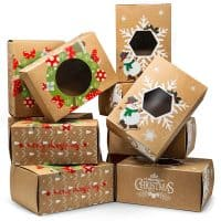 Joyousa Christmas Treat & Cookie Gift Boxes