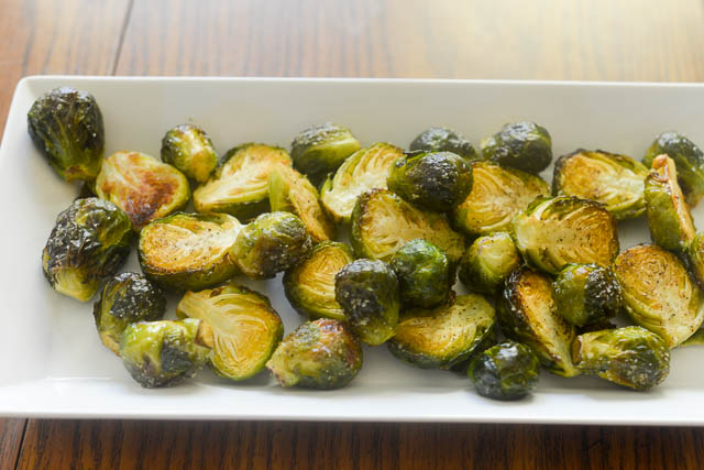 Air Fryer Roasted Brussels Sprouts
