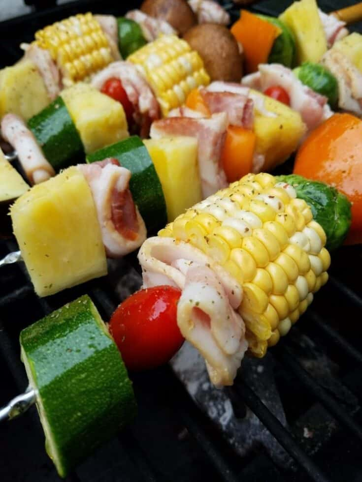 BBQ Bacon & Pineapple Shish Kabobs