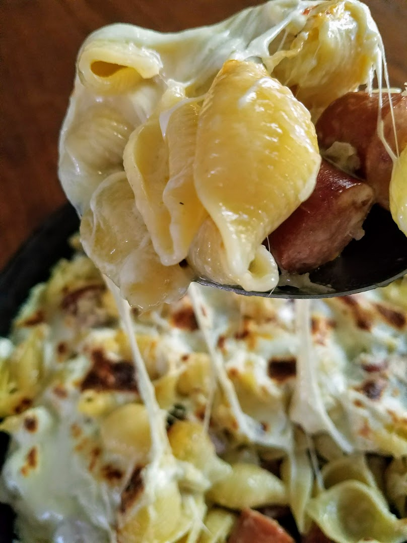 20-Minute Baked Pasta Alfredo with Sausage