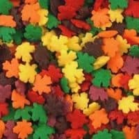 Fall Leaves Shapes Bakery Topping Sprinkles