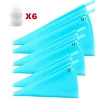 Silicone Pastry Bags, Weetiee 3 Sizes Reusable Icing Piping Bags Baking Cookie Cake Decorating Bags