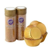 Gold Cupcake Decorating Kit