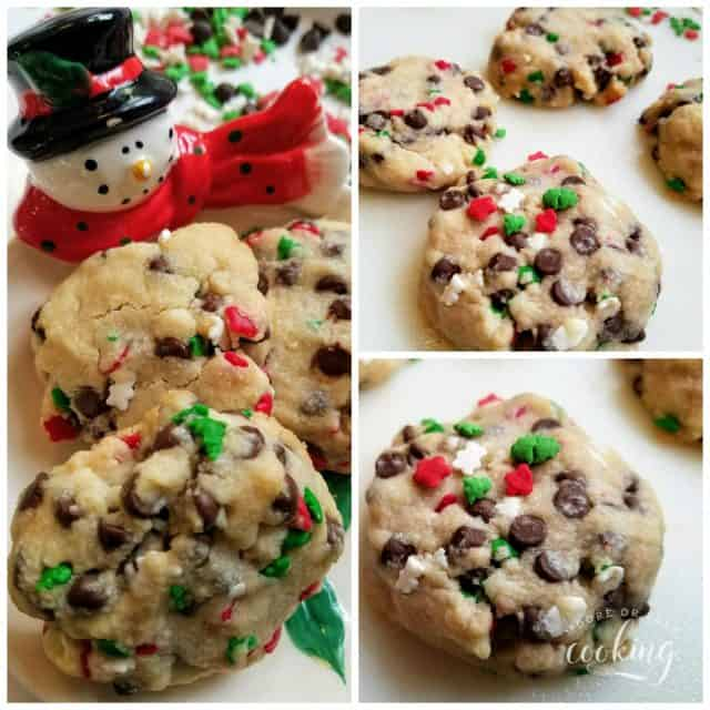 Christmas Chocolate Chip Sprinkles Butter Cookies