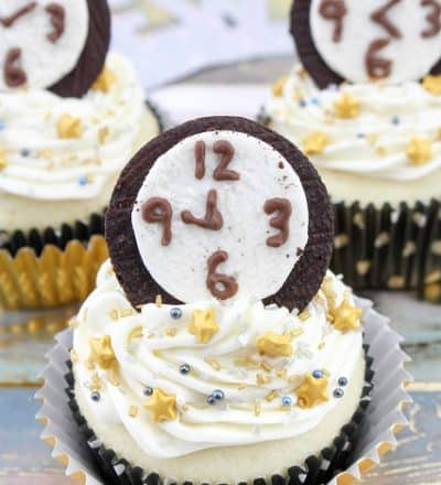 New Year's Eve Countdown Cupcakes