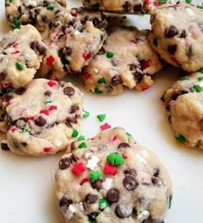 Christmas Chocolate Chip Sprinkles Butter Cookies #ChristmasSweetsWeek