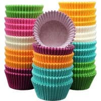 Holiday Party Rainbow Paper Baking Cups