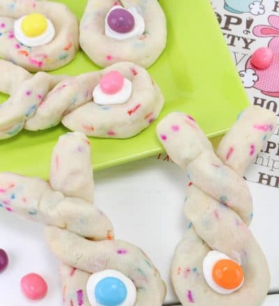 Easter Bunny Sugar Twist Cookies