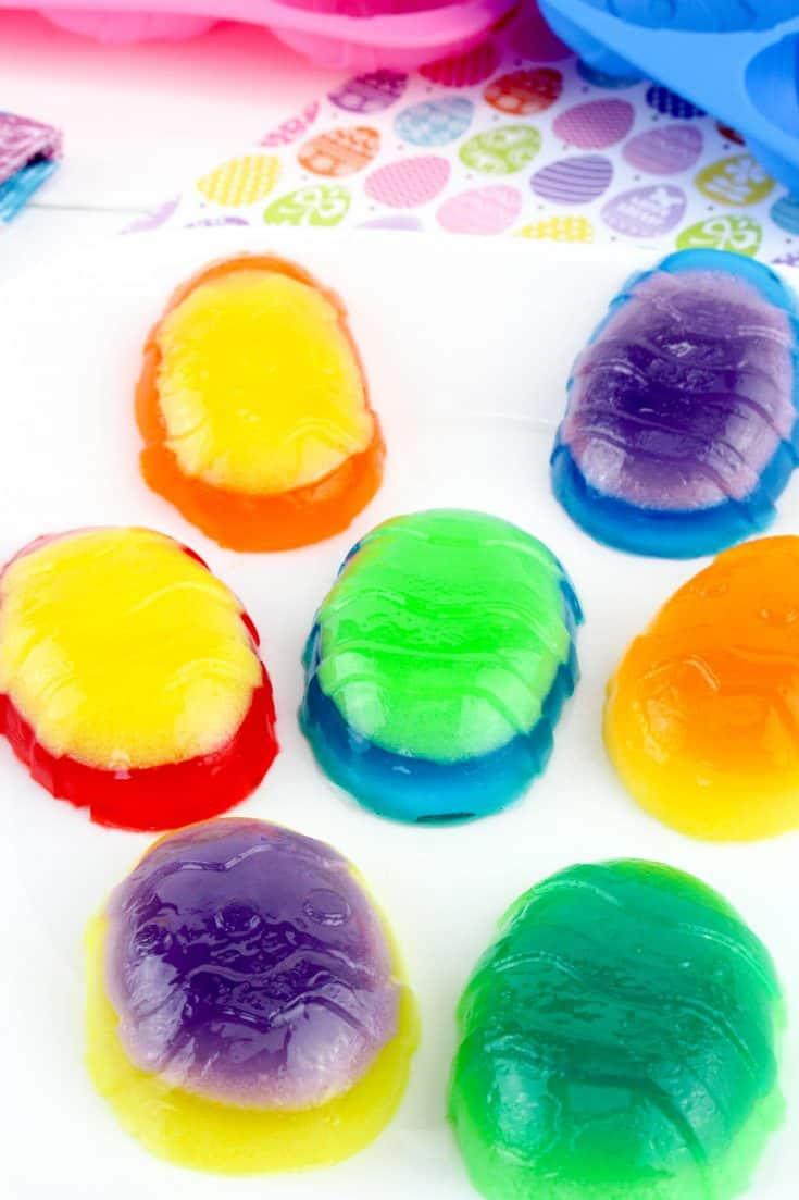 Jell-O Jiggler Easter Eggs
