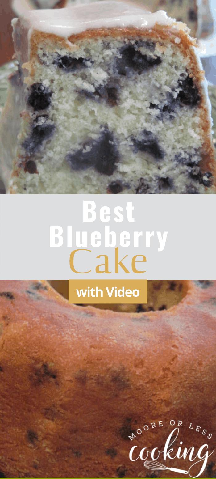 Best Blueberry Cake & Video via @Mooreorlesscook