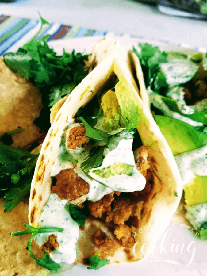 Spicy Chicken Tacos with avocados are the perfect choice for taco night or any night when a quick and easy dinner is a must. #CollectiveBias #Nexium24HrGameReady via @Mooreorlesscook