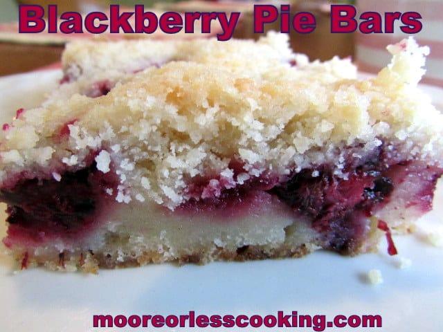 Blackberry Pie Bars
