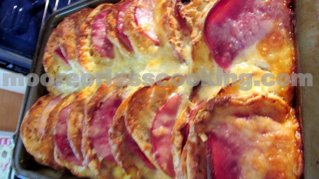 English Muffin, Ham and Egg Strata ( Overnight Bake)