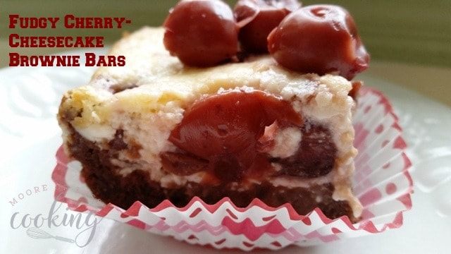Fudgy Cherry-Cheesecake Brownie Bars
