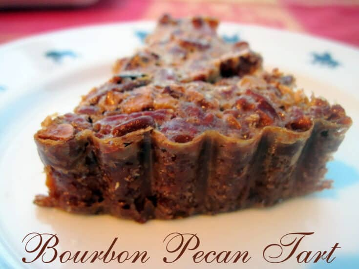 Pecan and Bourbon Tart