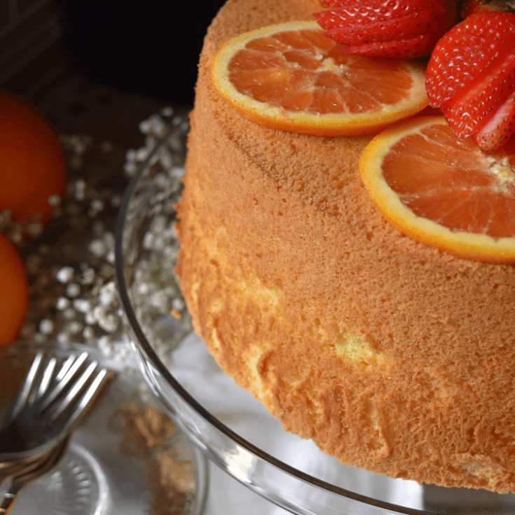 Orange Chiffon Cake Recipe [Light and Fluffy]