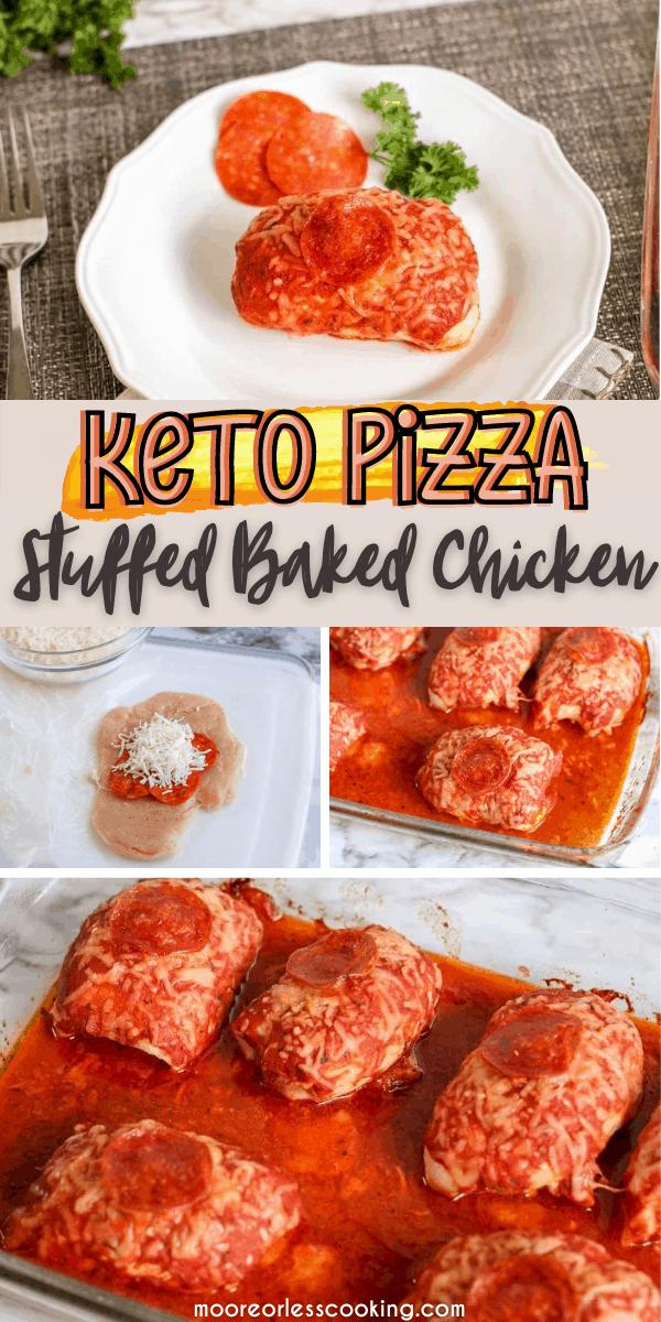 Keto Pizza Stuffed Baked Chicken