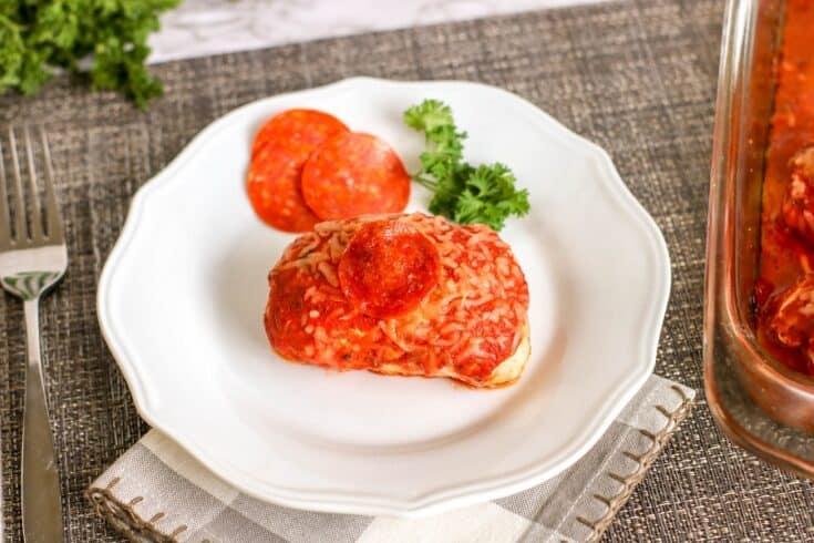 Keto Pizza Stuffed Chicken