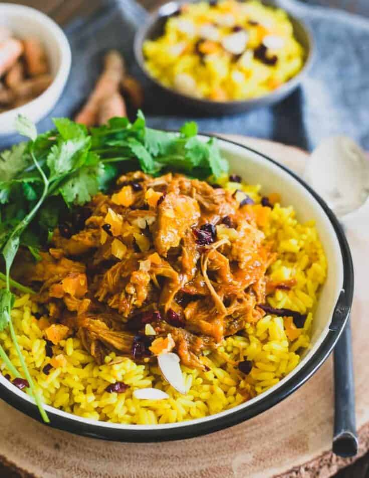 Instant Pot Coconut Pork with Turmeric Ginger Rice