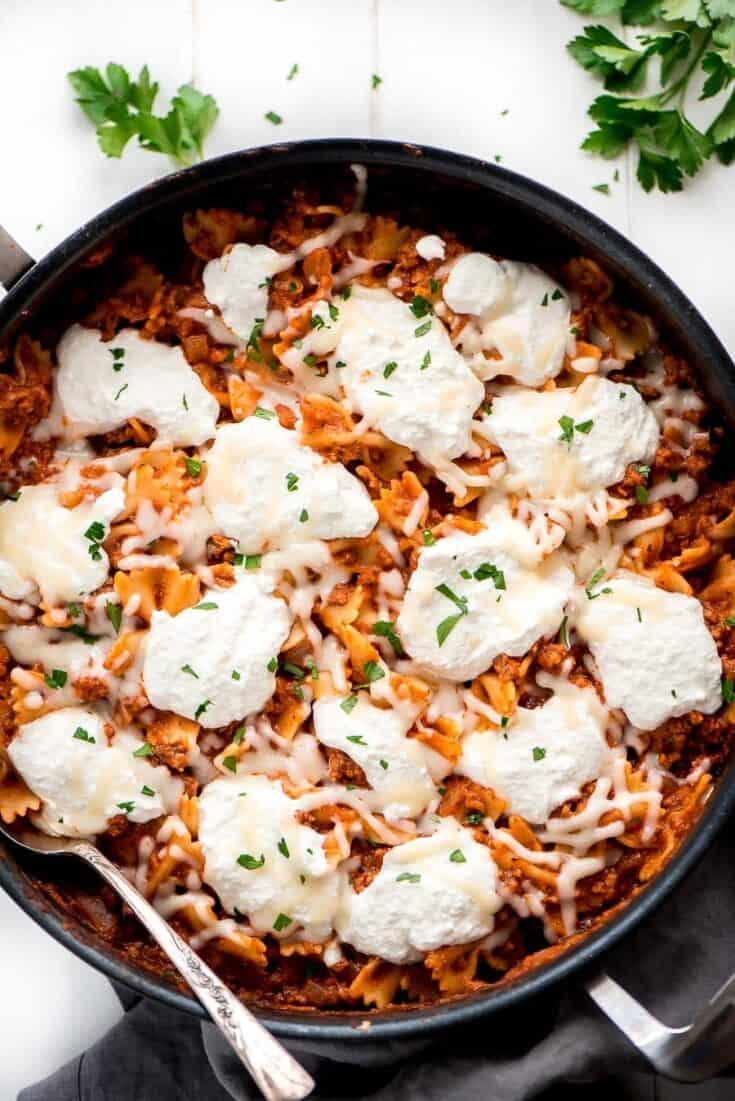 Best Skillet Lasagna - Lil' Luna