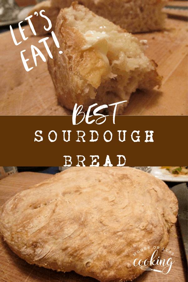 Best Sourdough Bread via @Mooreorlesscook