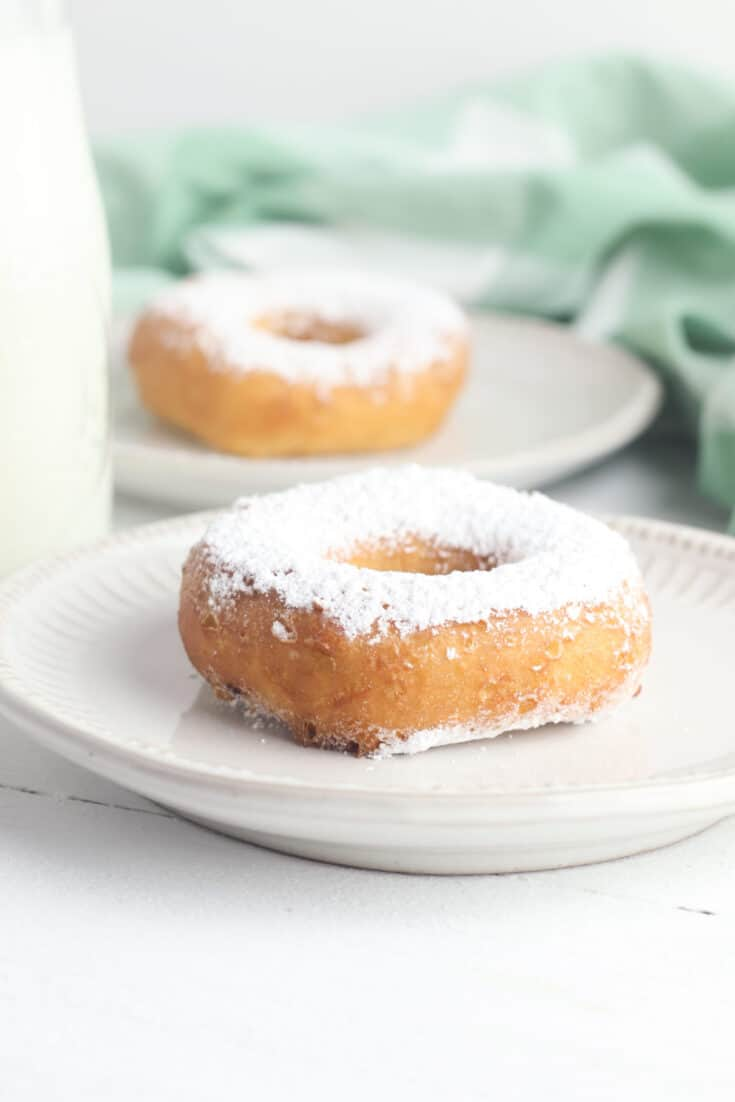 Powdered Sugar Biscuit Donuts
