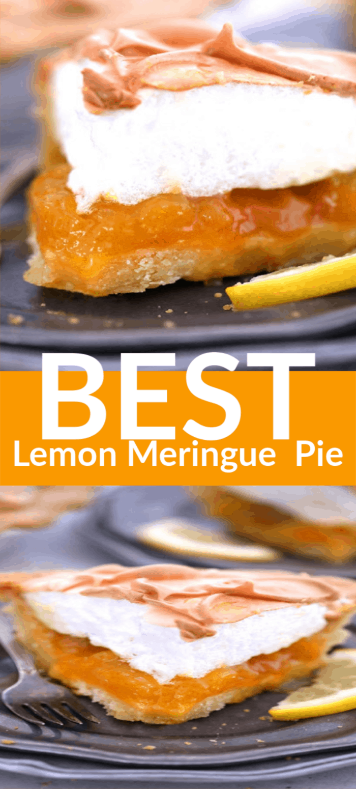Best Lemon Meringue Pie is a classic summer dessert that is a balance of sweetness and tartness! It could be tricky to make but all you need is this easy recipe! #lemonpie #pie #dessert #recipe #baking #lemon #easyrecipe #lemonmeringuepie #mooreorlesscooking via @Mooreorlesscook