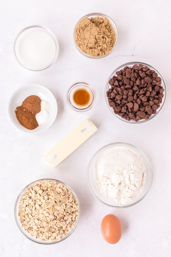 Chocolate Chip Oatmeal Cookies Ingredients