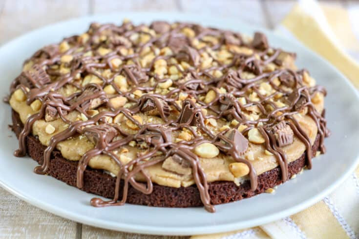 Peanut Butter Brownie Pizza