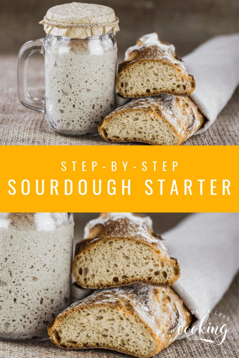 No Yeast? No Problem! Here's How to Make Sourdough Bread Starter Without Yeast! #sourdoughstarter #mooreorlesscooking #noyeast #bread #easyrecipes #sourdough via @Mooreorlesscook