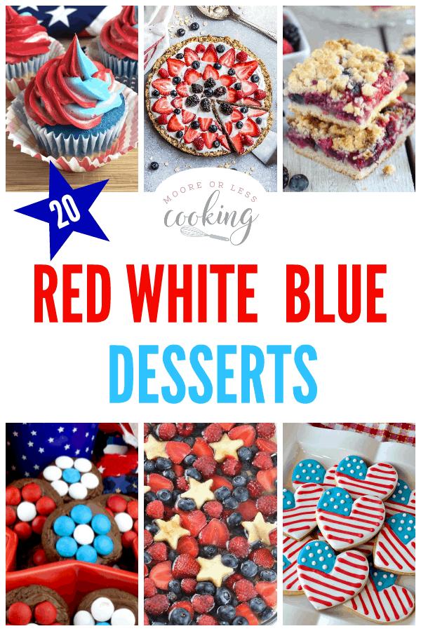 20 Red White Blue Desserts