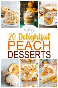 20 delightful peach desserts