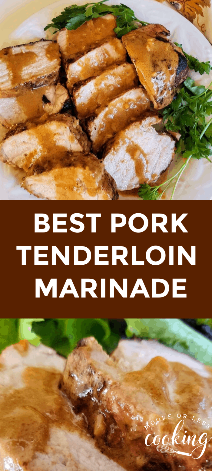 (ad) Best Pork Tenderloin Marinade. Make this easy and delicious Marinated Grilled Pork Tenderloin, it's a perfect summer family dinner but tasty enough for company. #MyMazolaMarinade via @Mooreorlesscook