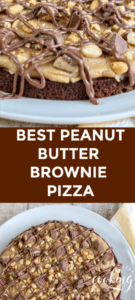 Peanut Butter Brownie Pizza Pin
