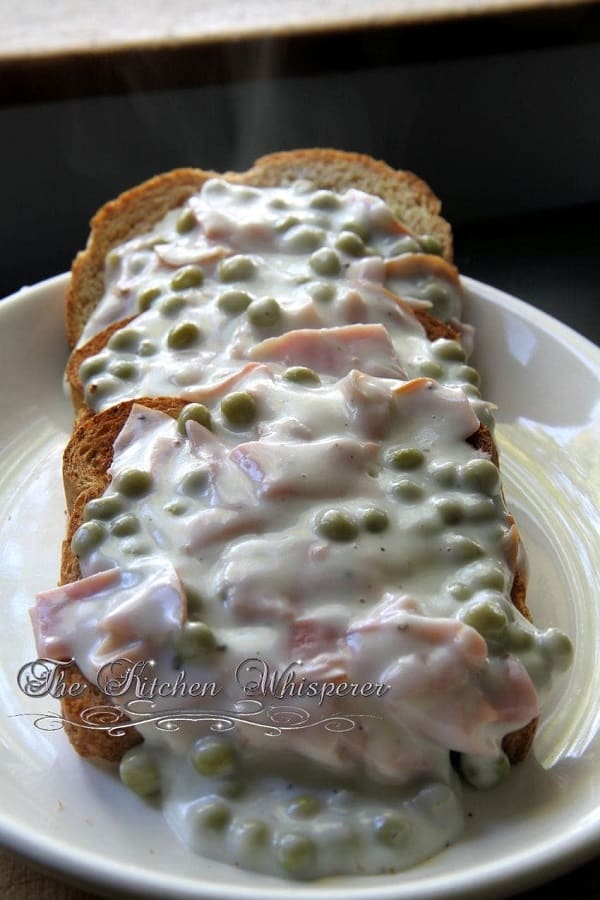 Creamed Chipped Ham on Toast